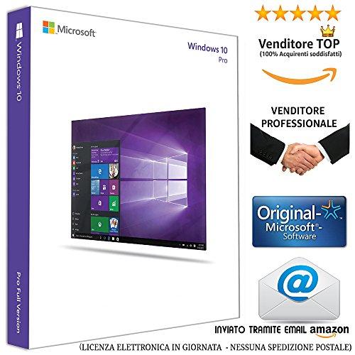 WINDOWS 10 PROFESSIONAL 64 BIT - Licenza Elettronica inviata in giornata tramite email Amazon - (NESSUNA SPEDIZIONE POSTALE nè CD/DVD)