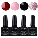 Annabelle UV Nagellack Soak Off UV Gel Nagellack Nail Art Top Coat Base Coat (7.3ml/pc Lot de 4) 054