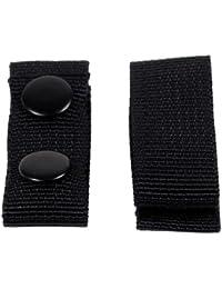 Gürtelhalter, Nylon, 4 Stk., schwarz, mit 2 Druckknöpfen