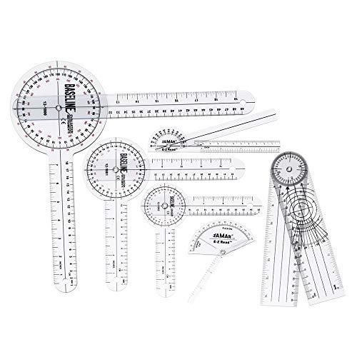 MYAMIA 6Pcs 360 12/8/6 Inch Medical Spinal Ruler Goniometer Winkel Winkel Ruler -