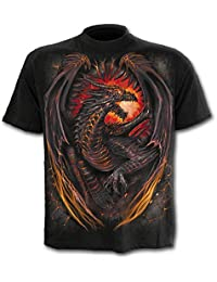 Spiral - Men - DRAGON FURNACE - T-Shirt Black