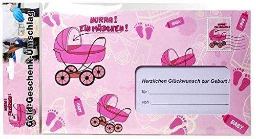 (Udo Schmidt GmbH & Co Briefumschlag Hurra EIN Mädchen Geldgeschenk pink 18x30cm Einheitsgröße)