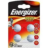 Energizer CR2025 Piles Bouton au Lithium, Lot de 4