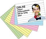 Die besten Karteikarten - Karteikarten 500 Stück A8 farbig liniert Bewertungen