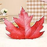 POPRY Lustige Simulation Blätter des Ginkgo Biloba Leaf Kissen Sofakissen Plüsch Büro Nap Kissen, Ahorn Blätter