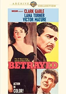Betrayed (1954) by Lana Turner, Victor Mature Clark Gable