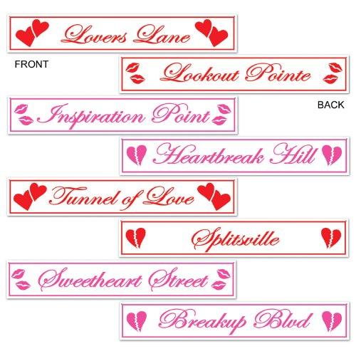 Beistle Valentine Street, Aussparungen (4/Pkg) (Dekorationen Klassenzimmer Valentine)