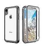 Newseego Compatible avec la Coque iPhone XR, Étui de Protection Robuste avec Protection d'écran intégrale Antichoc Robuste Coque pour iPhone XR 6.1 Pouces(Clair Noir)