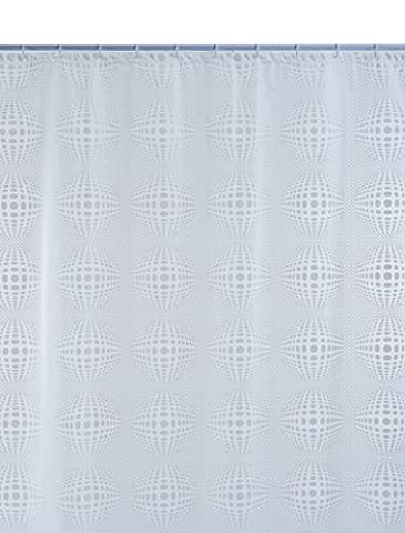 Shark 010/333101 Duschvorhang, Vinyl, 240 cm x Höhe 200 cm, transparent / Weiß