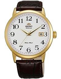 Orient ER27005W - Reloj para hombres, correa de cuero color negro