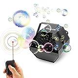 Máquina de burbujas, Cadrim Máquina de Burbujas de Jabón para DJ/Bar / Party/Show / Escenario, Máquina de Burbujas Comtable Uso en Interiores/Exteriores o Al Aire Libre