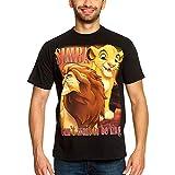 König der Löwen Disney Herren T-Shirt Simba Next King Elbenwald Baumwolle schwarz - XL