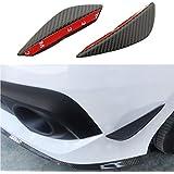 Aletas de parachoques delanteras, universales, pack de 2unidades, difusor de aire, aspecto de fibra de carbono, compatibles con todos los coches como Civic, Impreza o Mustang