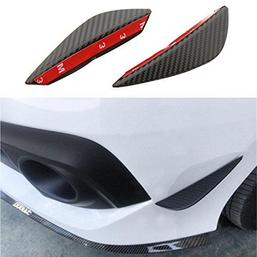 Universelle Flügel für den vorderen Stoßfänger, Splitter, Canards, Kohlefaser-Design, passend für alle Autos (2 Stück) (Wie Zu Reinigen Sto)