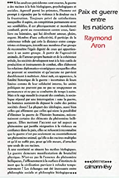 Paix et guerre entre les nations (Pérennes) par [Aron, Raymond]