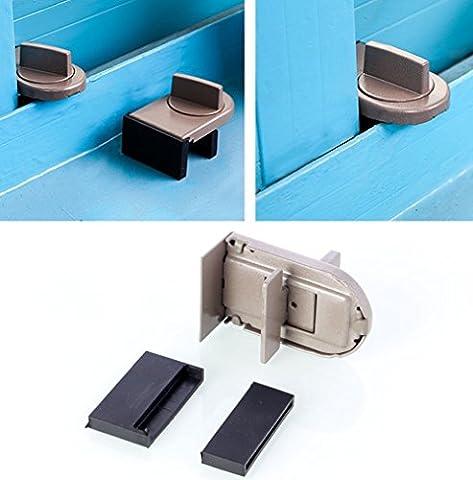 2 PCS Adjustable Door Window Lock Baby Safety Window Sliding Sash Stopper Door Restrictor