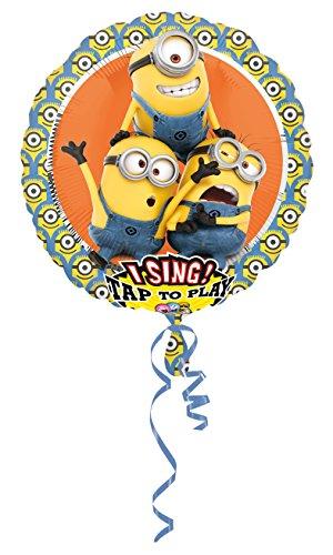 Amscan 3492801 Folienballon Sing-A-Tune Ich einfach Unverbesserlich-Minions (Halloween Film Song Dies Ist)