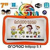 Tablette tactile enfant YOKID 7 pouces quad core Android 5.1 Orange 12Go