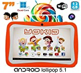 Tablette tactile enfant YOKID 7 pouces quad core Android 5.1 Orange 12Go