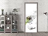 GRAZDesign 791688_92x213 Tür-Bild Spruch Puste Blume | Aufkleber Fürs Wohnzimmer | Türfolie Selbstklebend (92x213cm//Cuttermesser)