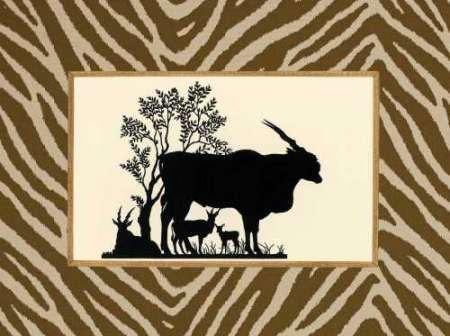 Feelingathome.it-LEINWANDDRUCK-Serengeti-Silhouette-I-cm41x54-poster-bild-auf-leinwand (Serengeti Silhouette)