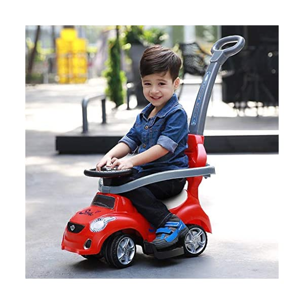 Twist car Swing car Children's 1-3 Years Old Baby Yo Car Scooter With Music Early Education Puzzle Hand Push Walker Four-wheeler FANJIANI (color : Red) Twist car ▶Tip: The delivery time of the product is 8-15 days, If you have any questions, please feel free to contact us ▶Environmental PP material, non-toxic, no odor, corrosion resistance, high temperature resistance, anti-drop, shockproof, baby play more assured ▶By grasping, it can promote the development of the cerebellum, stimulate the baby's left and right brain, and constantly adjust the steering wheel, exercise the baby's sense of direction and hand-eye coordination, effectively cultivate the baby's potential 4