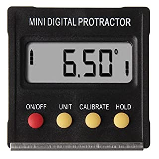 SODIAL(R) Portable Digital Protractor Angle Finder Level Inclinometer Magnetic 0~360 Degree for metal LCD Backlight Built-in Magnet V-groove base