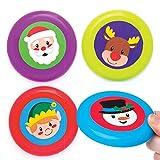 Baker Ross Frisbees Amis festifs (Lot de 8), Petits Cadeaux à Glisser dans Les...