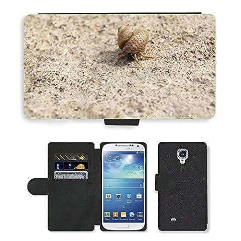 hello-mobile PU LEDER LEATHER FLIP CASE COVER HÜLLE ETUI TASCHE SCHALE // M00136633 Einsiedlerkrebs Shell Snail Meer Natur // Samsung Galaxy S4 S IV SIV i9500