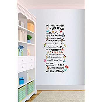In This House We Do Disney Style Quote Rules Vinyl Wall Art Nursery Sticker  LSD4 (