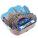 non-brand MagiDeal Mini 3D Modelo de Construcción Mundial Imanes de Nevera Decoración del Hogar - Venecia