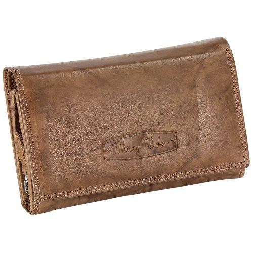 Damen Leder Geldbörse Damen Portemonnaie Damen Geldbeutel - Lang Natur Leder - Geschenkset + exklusiven Ledershop24 Schlüsselanhänger