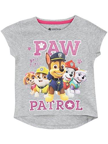 Paw Patrol Mädchen Paw Patrol T-Shirt 116 (Liebe, Graues T-shirt)