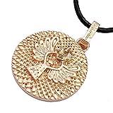 Gepardini Schutzengel Amulett Halskette mit SWAROVSKI® Edition Kristalle (silber, gold, roségold) Handarbeit mit Zertifikat (Rosévergoldet)