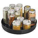 mDesign Especiero giratorio para cocina - Elegante estante para especias, condimentos, ingredientes de hornear...