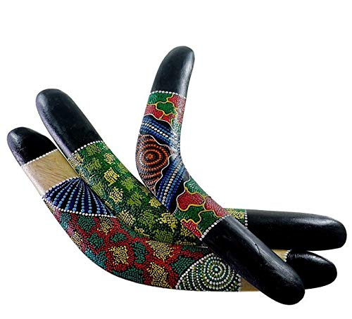 Kunsthandwerk Asien Deko-Bumerang, Länge ca. 40 cm