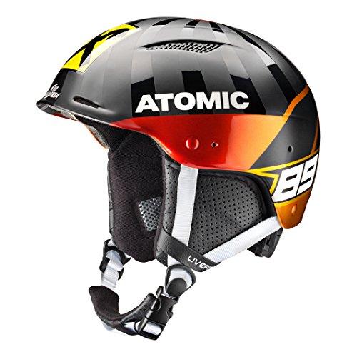 Atomic, Damen/Herren Slalom-Helm, Renntauglich, Marcel Hirscher Design, Redster LF SL, Live Fit, Größe M, Kopfumfang 56-59 cm, Schwarz, AN5005438M