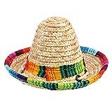 Longsw Animal de compañía Sombrero de Moda Perro Gato Ajustable Sombrero de Paja Animal Disfraz Fournitures