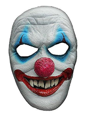 Halloween Karneval Party Kostüm Horror Grusel Maske Clown des Grauens aus Latex Clownmaske für Erwachsene Fasching Halbmaske (Jahren Halloween-party 18 Ab)