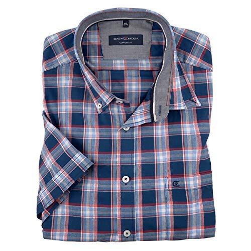 Casamoda Camisa Manga Corta Denim Azul Rojo-Blanco