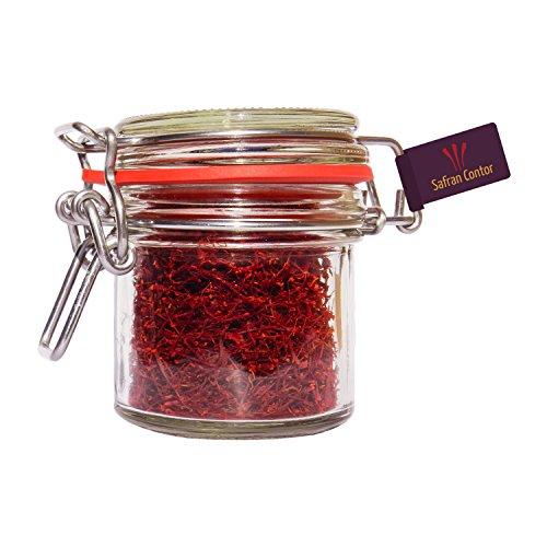 SafranContor Safran in Fäden, Negin-Qualität, 10 g im Glas -