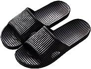 APIKA Women and Men's Anti-Slip Slip-on Slippers Indoor Use Outdoor Use Bath Sandal Soft Foam Sole Pool Sh