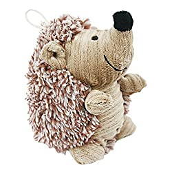 Durable Pet Dog Puppy Plush Sound Chew Squeaker Squeaky Toy Cute Hedgehog Shape Stuffed Chew Dental Floss Rope Molar Teeth Clean Dog Training Chewing Toys Pet Plaything For Medium Small Dogs Puppies