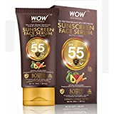 WOW Skin Science Matte Finish Sunscreen Face Serum SPF 55 PA+++ with Raspberry