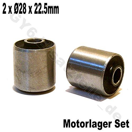 MOTOR SILENT LAGER / MOTORLAGER BUCHSEN / GUMMIBUCHSEN * Ø 28 x 22.5mm * 1 PAAR * 50-150cc z.B. für BAOTIAN QT BENZHOU YIYING YY50QT REX RS AGM JINAN QINGQI QM50QT YIYING LONGJIA KYMCO FOSTI ZNEN QT-E LEIKE JMSTAR MOTINO MKS HYOSUNG PEUGEOT KREIDLER RMC FLEX TECH TOPDRIVE YY50QT ERING ADLY RIEJU SUKIDA RETRO CRUISER CHINA ROLLER 139QMA / 139QMB GY6