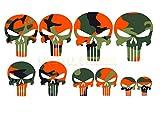 Punisher Aufkleber Set 10 Stück Bunt Tarnlook camouflage