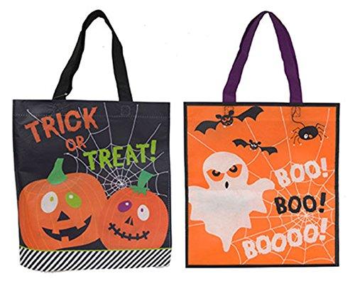 Dildoridoo - Halloween Party Tüten- Sammel Taschen Kürbis- Geist, 1 Stück, 37x35cm, - Schwarz Tasche Halloween-kostüme Kunststoff