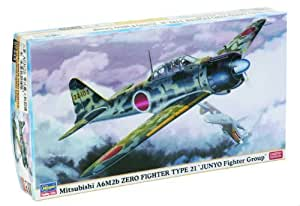 HAS07333 1:48 Hasegawa A6M2b Zero Type 21 Junyo Fighter Group MODEL KIT by HASEGAWA