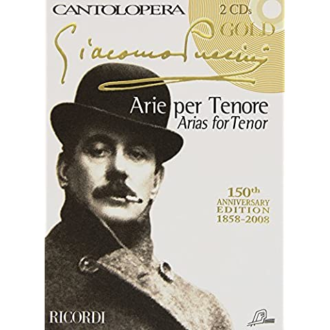 RICORDI PUCCINI G. - CANTOLOPERA: PUCCINI GOLD + CD - CHANT ET PIANO Classical sheets Voice solo,