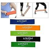 Lixada Fitnessbänder Übungsband Widerstand Schleife Bands Set Bodyband für Krafttraining/Bodybulding/Yoga 5 Stücke - 3